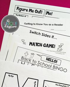 Going back to school soon? My Back to School BUNDLE with FREEBIES includes my best-selling (and recently updated!) Math About Me along with lots of other fun and engaging activities to do with your students the first week of school to help you get to know them -- and for them to get to know each other! #backtoschool2016