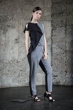 Harem Jumpsuit Womens Jumpsuit Maxi Gray by AnnnaVasiljevic Jumpsuits For Women Formal, Happy 40th Birthday, Normcore, Trending Outfits, Gray, Vintage, Dresses, Fashion, Vestidos