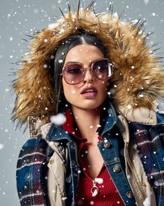 Studio F Colombia Let It Snow, Let It Be, Round Sunglasses, Sunglasses Women, Fashion Moda, Studio, Gloves, Jackets, Eyeglasses