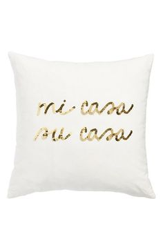 Bow & Drape 'Mi Casa, Su Casa' Pillow available at #Nordstrom