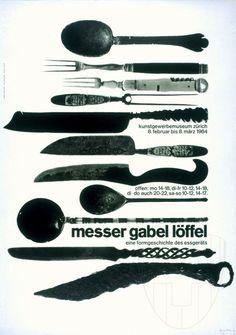Fridolin Müller – Messer Gabel Löffel eine Formgeschichte des Essgeräts, 1964
