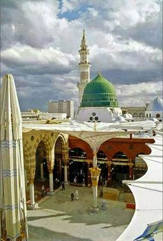 Masjid Al-Naw'wi - Mosque of Prophet Muhammad [ S.W ] - Madina Al-Munaw'ra , Saudi Arabia . Islamic Images, Islamic Pictures, Islamic Art, Islamic Posters, Al Masjid An Nabawi, Masjid Al Haram, Beautiful Mosques, Beautiful Places, Medina Mosque