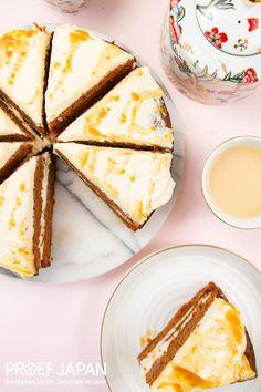 Worteltaart met miso karamel | Proef Japan Japan, Ethnic Recipes, Desserts, Food, Tailgate Desserts, Meal, Dessert, Eten, Meals