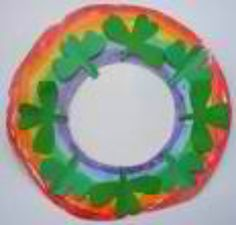 St patrick wreath