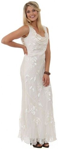 100% Silk & Chiffon Swag neck Sequined Party,Mother bride Dress S M L or XL