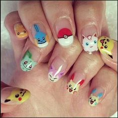 NAILS - POKEMON - POKEBALL - Here comes one among the best nail art style concepts and simplest nail art layout for beginners. Enjoy in Photos! Cute Nail Art, Easy Nail Art, Beautiful Nail Art, Cute Nails, Pretty Nails, Gel Nails At Home, Diy Nails, Manicure Y Pedicure, Nail Candy