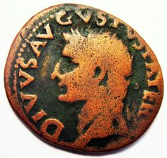 DIVUS AUGUSTUS AE As struck 34-37 A.D. under TIBERIUS Coins, Bronze, Ads, Personalized Items, Antiques, Ebay, Antiquities, Antique, Rooms