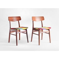 Vintage Teak Wood Chairs - Mid Century, Modern, Dining, Retro, Eames