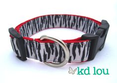 Black & White Zebra Collar  www.facebook.com/kdlou