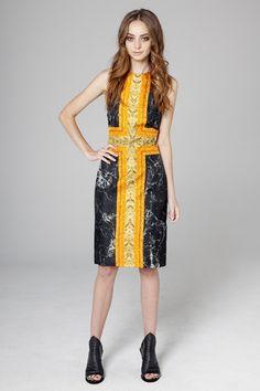 Marble Frame Halter Cut Away Dress
