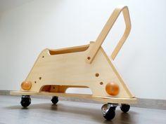 Porteur sur roulette balancelle jouet en bois / Atelier1053