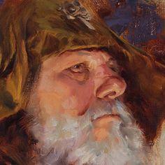 Close up #wattsatelier #watts #hustle #instaart #art #worldofart #worldofartists #pirate #allaprima #painting #oilpainting #maleportrait #portraiture #portrait #hustle #instagood by pavelsokov
