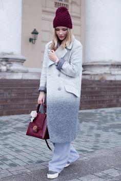 Winter Wear, Winter Hats, Street Chic, Street Style, Knitted Hats, Beanie, Knitting, Coat, How To Wear