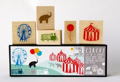 Circus Stamp Set by Yellow Owl Workshop