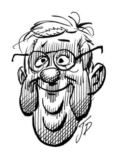 Jack Davis, self portrait Cartoon Sketches, Drawing Sketches, Sketching, Bob Peak, Kadir Nelson, Jack Davis, Ec Comics, Sports Art, Cute Drawings