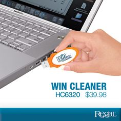WIN CLEANER Regal Gifts Don't put up with a slow, sluggish computer; just plug this hassle-free solution into your PC's USB drive to enjoy instant improvement. Cleans up your Windows registry, fixes errors, removes clutter and unwanted files and frees up valuable disk space. Start Windows faster, enjoy better Internet browsing...even improve your PC's security and privacy. System requirements: Windows 8,7,Vista, or XP plus Internet access. Product Number HC6320