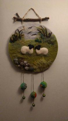 Fern Hill by roslyn Felted Wool Crafts, Felt Crafts, Diy And Crafts, Felt Pictures, Needle Felting Tutorials, Felt Embroidery, Textile Fiber Art, Wool Art, Felt Birds