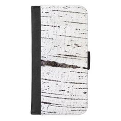 Birch bark pattern iPhone 8/7 plus wallet case - pattern sample design template diy cyo customize
