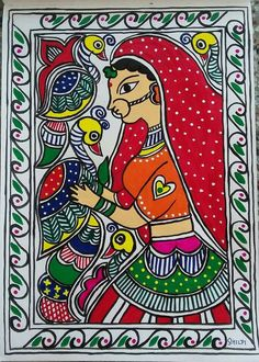20 new ideas for baby art drawing paintings Phad Painting, Mural Painting, Mural Art, Fabric Painting, Dress Painting, Woman Painting, Madhubani Art, Madhubani Painting, Art And Illustration