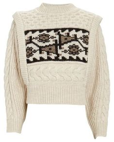 INTERMIX® Designer Clothing Strong Shoulders, Sweater Design, Cable Knit Sweaters, Sweater Fashion, I Love Fashion, Clothing Items, Isabel Marant, Designing Women, Rib Knit