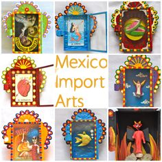 Matchbox Mexican nichos. Cool way to jazz a wall.