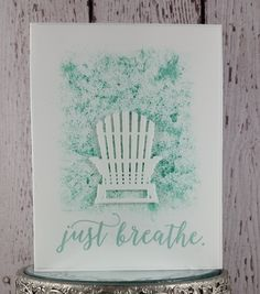 Are you looking forward to cottage, camping, beach time, or relaxing by the pool? I sure am! This card reminds me of summer, sitting in a be...