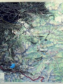 "Ed Fairburn, ""Lüner See,"" pen and ink… Art Altéré, Map Art, Abstract Portrait, Portrait Art, Ed Fairburn, Map Painting, Ap Studio Art, A Level Art, Portraits"