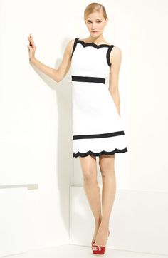 Valentino Scalloped Piqué Dress available at #Nordstrom