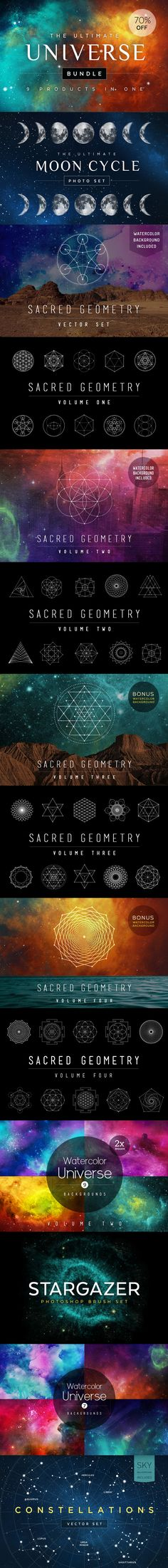 The Ultimate #Universe #Design #Bundle includes all my favorites and best sellers, including the #SacredGeometry Bundle (Vol. 1-3) which was one of the Top 100 Products on Creative Market for 2015!