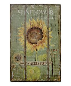 Take a look at this Sunflower Wall Art by VIP International on #zulily today!