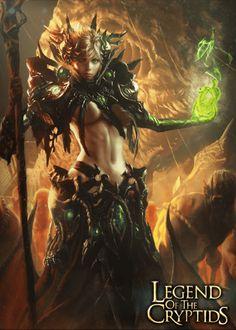 Artist: Choi Yongjae aka indus - Title: Unknown - Card: Retaliating Brynhildr (Valhalla)