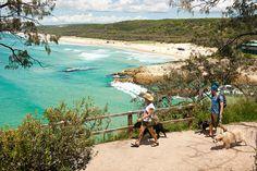 Overlooking Main Beach on North Stradbroke Island. Our yearly holiday destination. Brisbane Australia, Australia Travel, Beach Holiday, Family Holiday, Maine, Tropic Of Capricorn, Stradbroke Island, Dog Beach, Island Beach