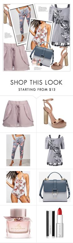 """""""Rosegal"""" by stranjakivana ❤ liked on Polyvore featuring Salvatore Ferragamo, Burberry and Givenchy"""