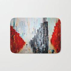 Abstract city Bath Mat
