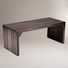 Alexander Slat Table Bench | World Market