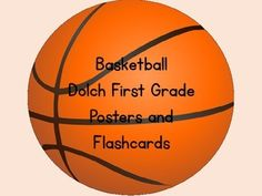 Here is a set of basketball Dolch First Grade Sight Word Cards that can be used at the beginning of the school year or anytime.