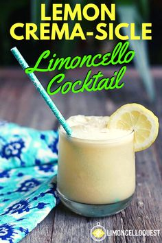 Lemon Crema-sicle Limoncello Cocktail Another drink leveraging the magnificent power of Crema di Limoncello, this frosty creation will make you forgive Captain Morgan for what he did to you back in college. The name also sounds like it Healthy Cocktails, Refreshing Cocktails, Easy Cocktails, Summer Cocktails, Limoncello Martini, Limoncello Recipe, Mojito Recipe, Martini Recipes, Drinks Alcohol Recipes