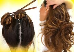 Eight ways to get curly hair without a curling iron or hair rollers Hair Curling Tips, Wavy Hair Overnight, Small Braids, How To Curl Your Hair, Curling Iron, Damaged Hair, Girls Dream, Curled Hairstyles, Rollers