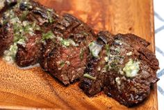 Grilled Chipotle-Rubbed Steaks with Lime Butter SAY YUMM!!