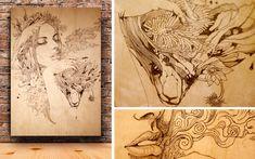 Wood Panel Illustrations
