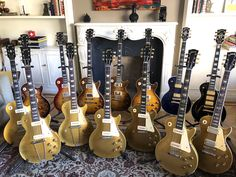 Gibson Guitars, Fender Guitars, Jim Morrison Movie, Les Paul Guitars, Guitar Collection, Fender Stratocaster, Gold Top, Gibson Les Paul, Funny Movies