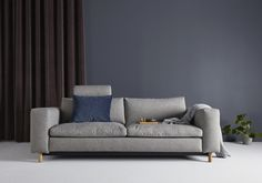 Masica 155 x 200 cm - a sofa bed by Innovation Living - an extra comfortable sofa bed for both sitting and sleeping ensured by seat pads filled with a feather mix. Grey Sofa Bed, Sofa Bed Size, Futon Bed, Sofa Convertible, Canapé Convertible Design, Sofa Design, Canapé Design, Interior Design, Bathrooms