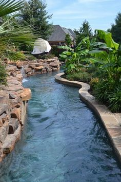 ✔️ Fun Backyard Landscaping Idea How About An Exotic, Tropical Backyard Resort 90 Natural Backyard Pools, Tropical Backyard, Tropical Houses, Fun Backyard, Modern Tropical, Mini Piscina, Lazy River Pool, Wave Pool, Mini Pool