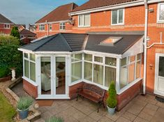 New Conservatory Roof Bungalow Extensions, Garden Room Extensions, House Extensions, Tiled Conservatory Roof, Conservatory Extension, Conservatory Ideas, Rear Extension, Extension Ideas, Warm Roof