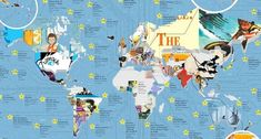 TheToyZone has gathered up the most popular children's books from each country and put them into these gorgeous graphics. You can scroll to the end for an interactive table with every pick! Geography For Kids, World Geography, Morris Gleitzman, Homeschool Books, Homeschooling, Australia For Kids, Multicultural Classroom, Asia Continent, English Reading