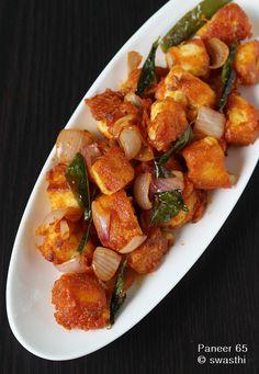Paneer manchurian recipe easy paneer recipes vegan n vegetarian paneer 65 recipe how to make paneer 65 paneer recipesindian food forumfinder Gallery