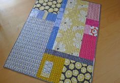 Great quilt back idea from Oh Fransson