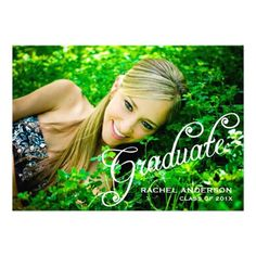 Simply Lovely Photo Graduation Party Invitation  Click on photo to purchase. Check out all current coupon offers and save! http://www.zazzle.com/coupons?rf=238785193994622463&tc=pin