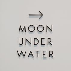 Moon under water Gfx Design, Logo Design, Signage Design, Type Design, Modern Typography, Typography Letters, Modern Fonts, Environmental Graphics, Environmental Design