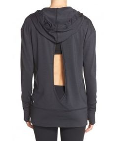 Zella 'Turn Around' Hoodie,  - Black Women's workout clothes | Fitness Apparel | Gym Clothes | Yoga Pants | Shop @ FitnessApparelExpress.com